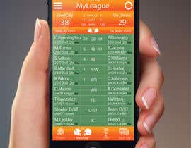 jessebauman tarafından Design an App Mockup for an iPhone/iPad Fantasy Football application için no 3