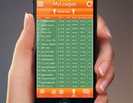jessebauman tarafından Design an App Mockup for an iPhone/iPad Fantasy Football application için no 8