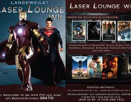 #39 para Design a Flyer for DVD Rental named LASER LOUNGE por krizdeocampo0913