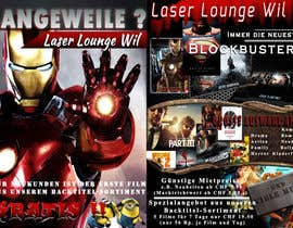 #27 para Design a Flyer for DVD Rental named LASER LOUNGE por uniqmanage