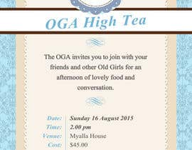 nº 13 pour High Tea Invitation par adripoveda