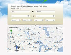 helixnebula2010 tarafından Design a Website Mockup for a Flight Price Analytics Page için no 10