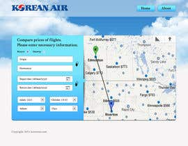 helixnebula2010 tarafından Design a Website Mockup for a Flight Price Analytics Page için no 12