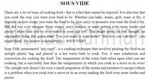 Write some Articles for Sous Vide Blog için Content Writing6 No.lu Yarışma Girdisi