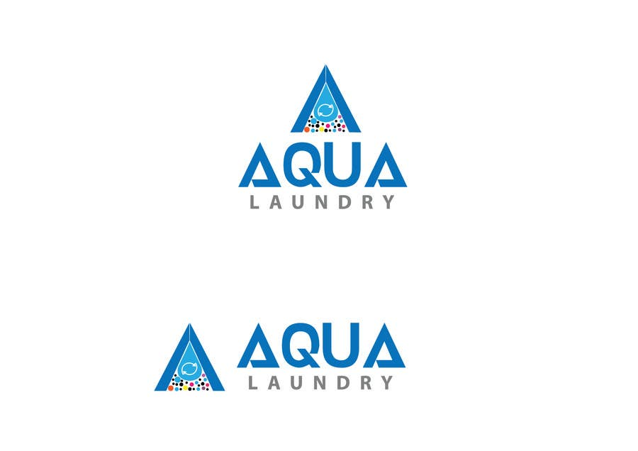Contest Entry #                                        7                                      for                                         Design a Logo for AQUA LAUNDRY & DRY CLEANING