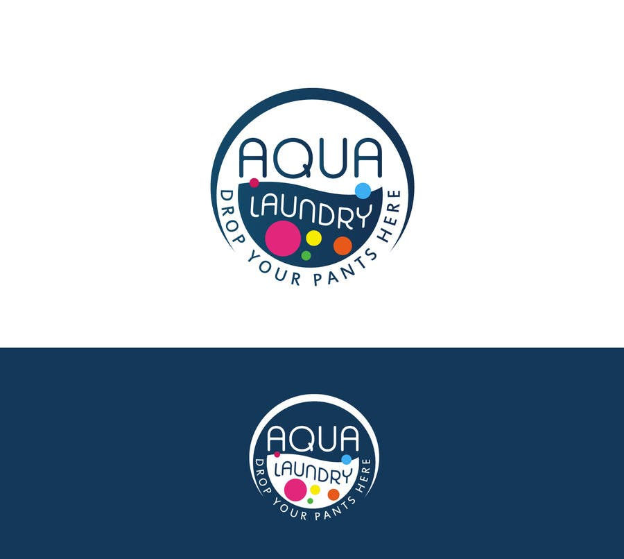 Konkurrenceindlæg #                                        66                                      for                                         Design a Logo for AQUA LAUNDRY & DRY CLEANING