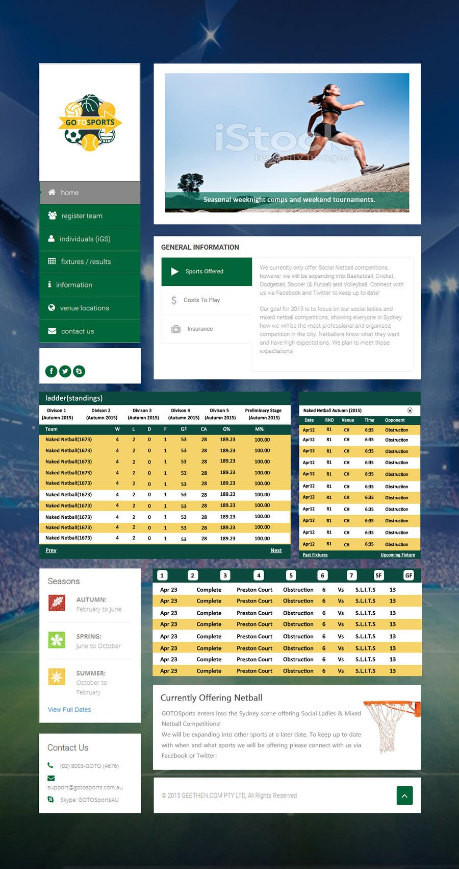 Contest Entry #                                        9                                      for                                         Re-Create Standings Page for Sports Site