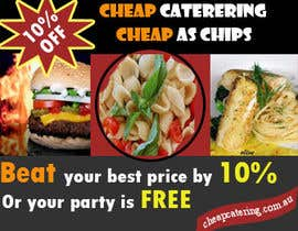 nº 13 pour Design a Banner for cheapcatering.com.au par designfrenzy