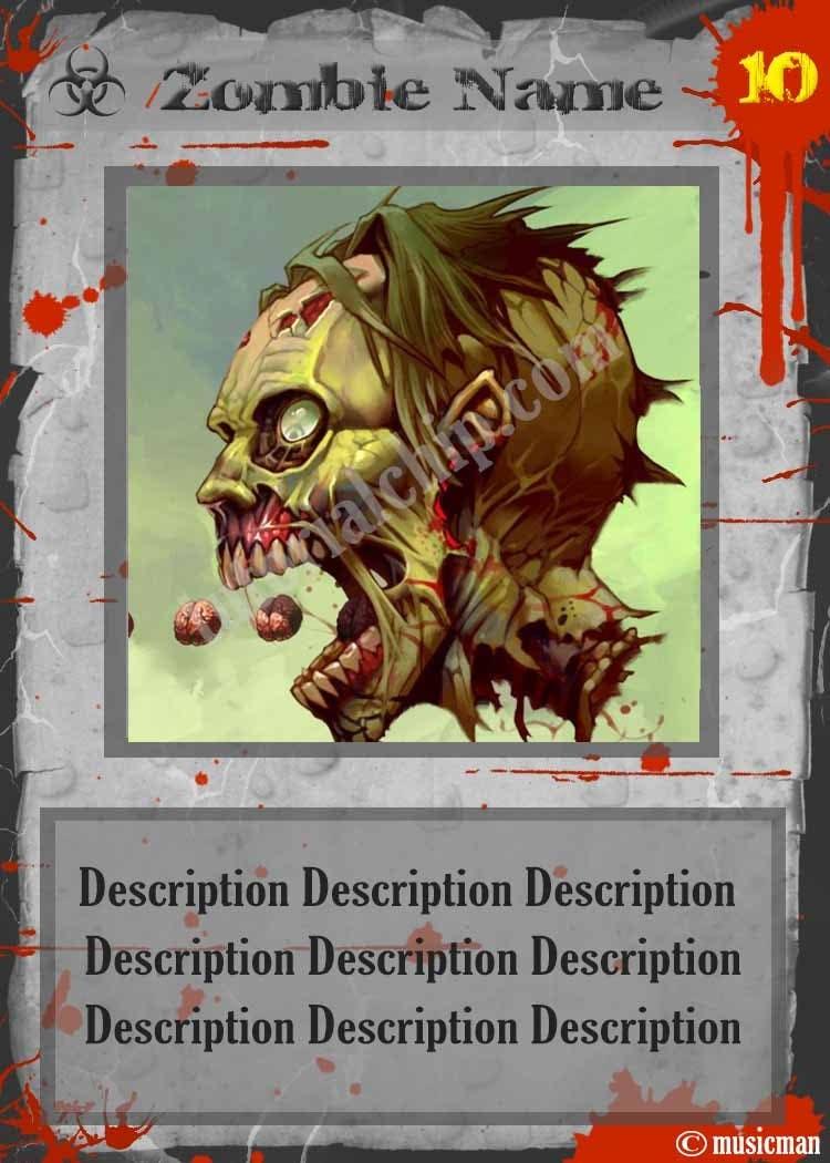 Inscrição nº 27 do Concurso para Design Trading Card for Zombies Card Game
