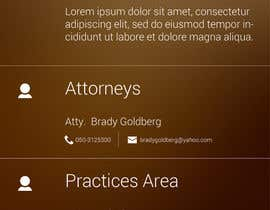 nº 14 pour Design an App Mockup for Lawyer App par akosiali