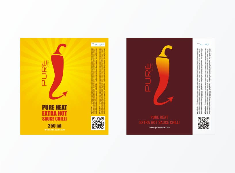 #90 for Graphic Design for Chilli Sauce label by brendlab