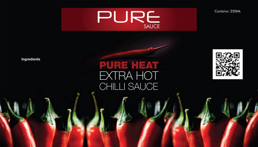 #62 for Graphic Design for Chilli Sauce label by praveenakul