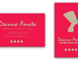 #13 para Design some Business Cards for Makeup Artist por contactdenis