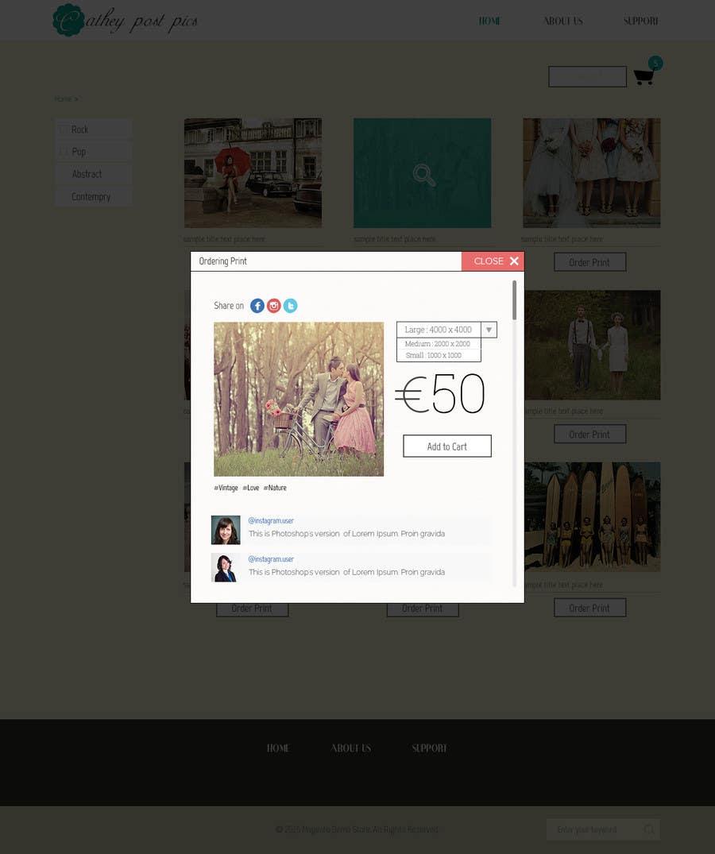 Konkurrenceindlæg #                                        26                                      for                                         Cathy Posts Pics - Website Design