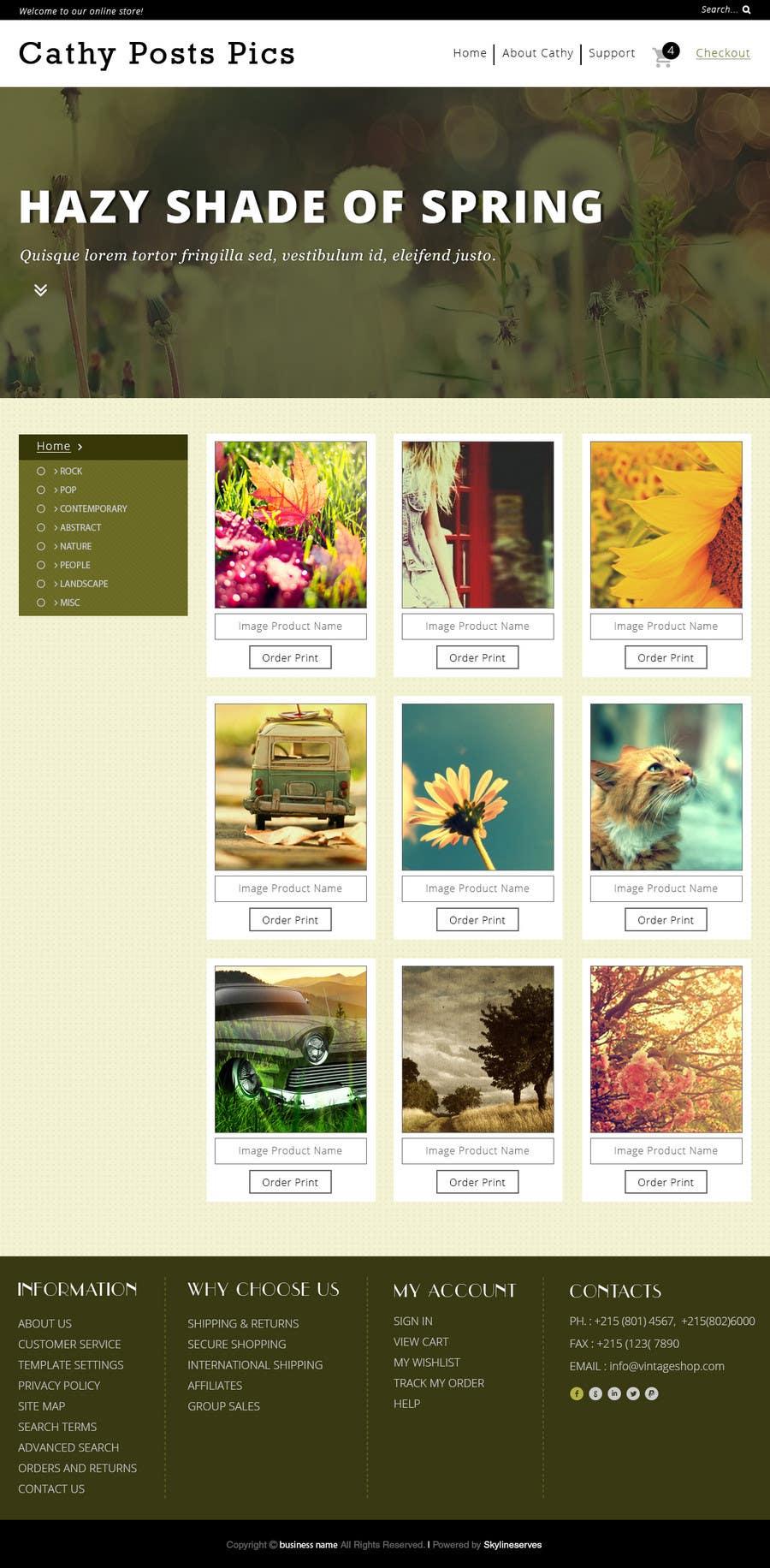 Konkurrenceindlæg #                                        29                                      for                                         Cathy Posts Pics - Website Design