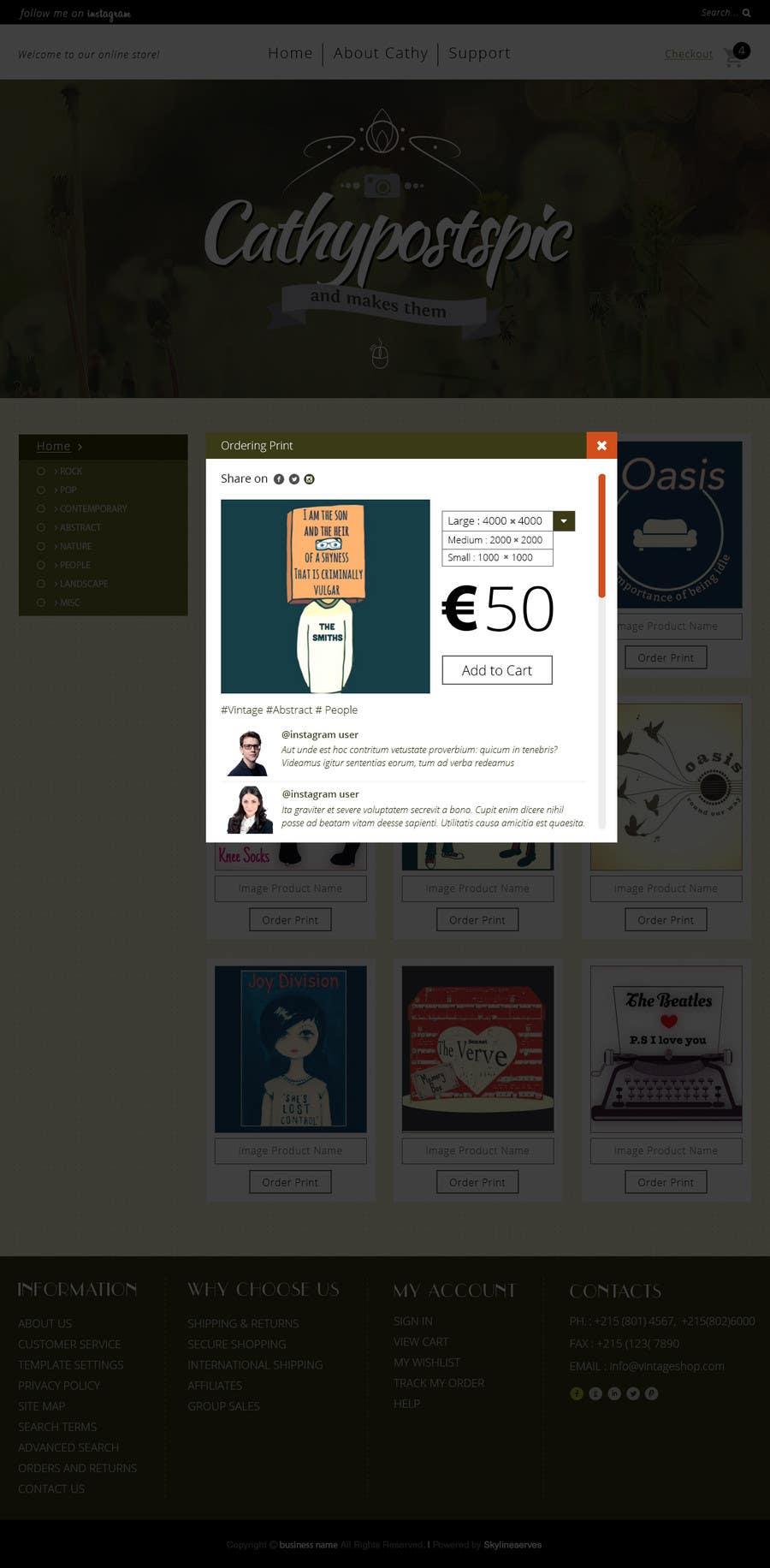 Konkurrenceindlæg #                                        45                                      for                                         Cathy Posts Pics - Website Design
