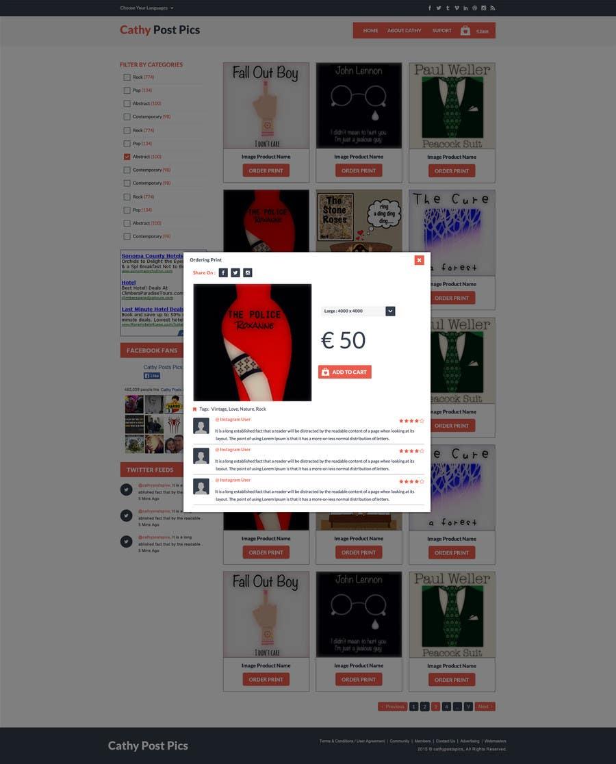 Konkurrenceindlæg #                                        27                                      for                                         Cathy Posts Pics - Website Design