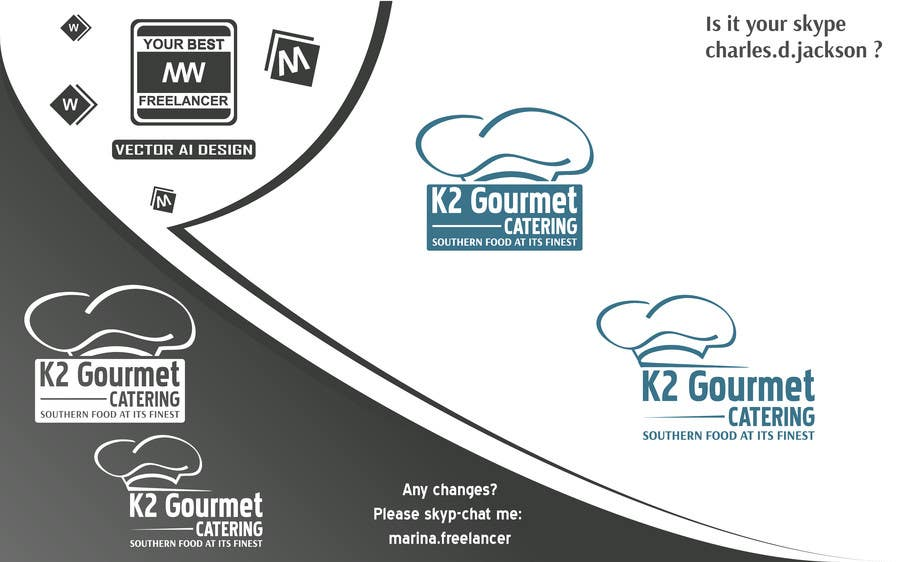 Contest Entry #                                        17                                      for                                         Design a Logo for K2 Gourmet Catering