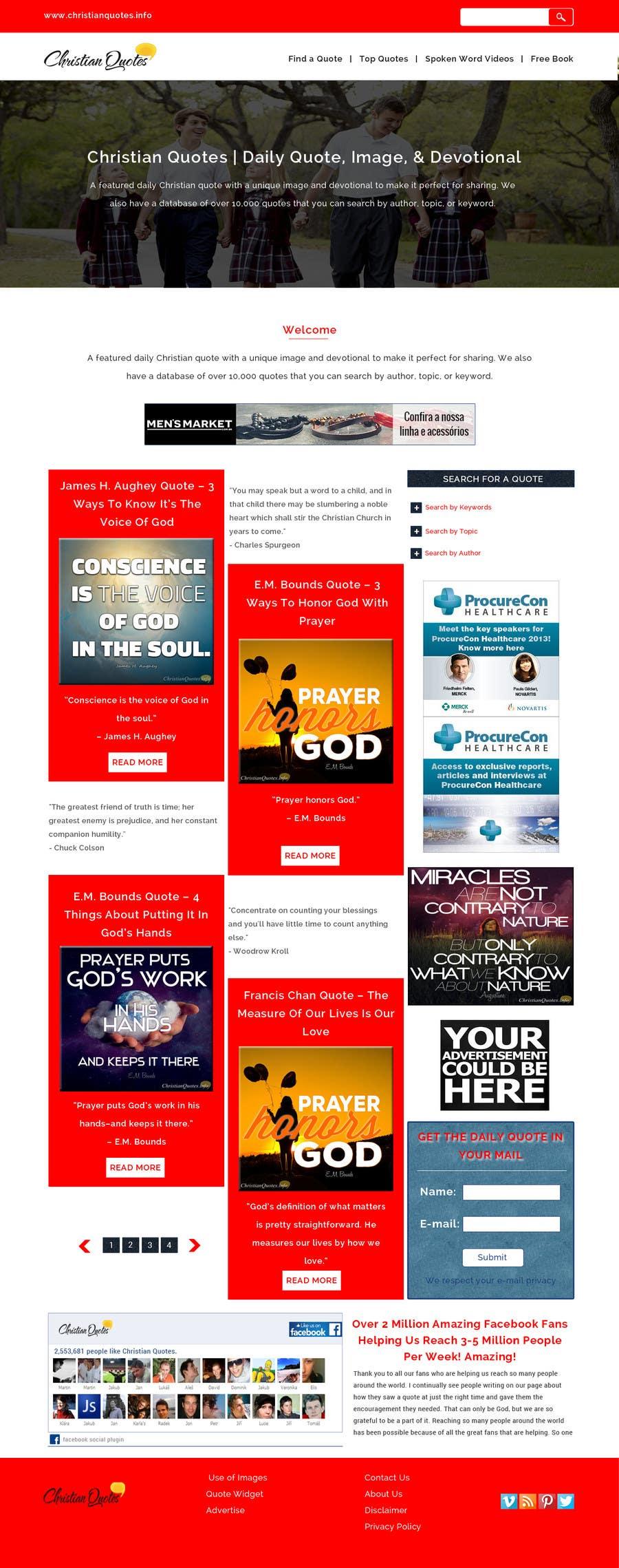 Penyertaan Peraduan #16 untuk Design the homepage of my website