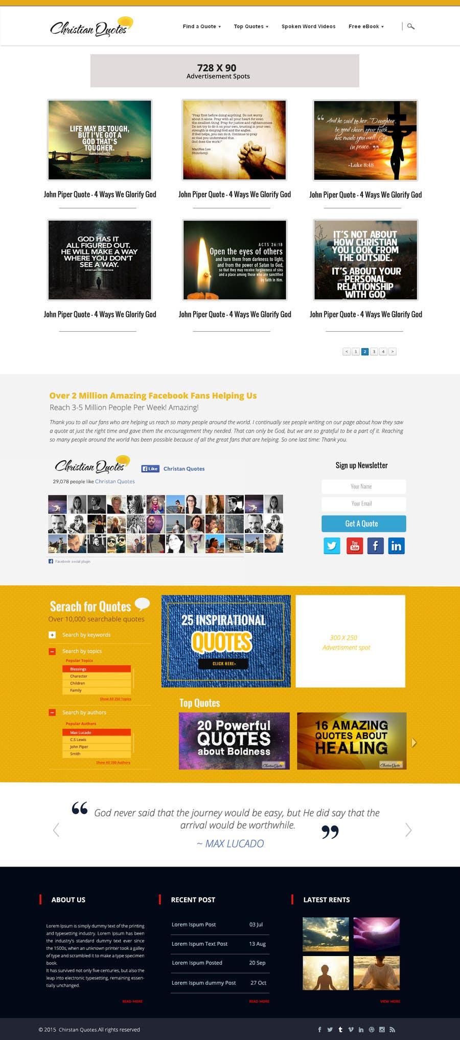 Penyertaan Peraduan #13 untuk Design the homepage of my website