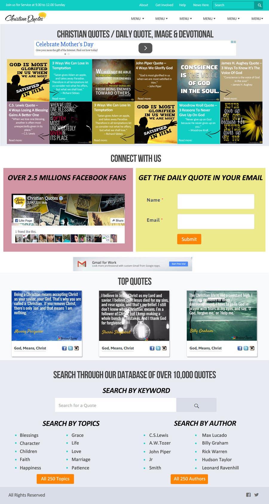 Penyertaan Peraduan #5 untuk Design the homepage of my website