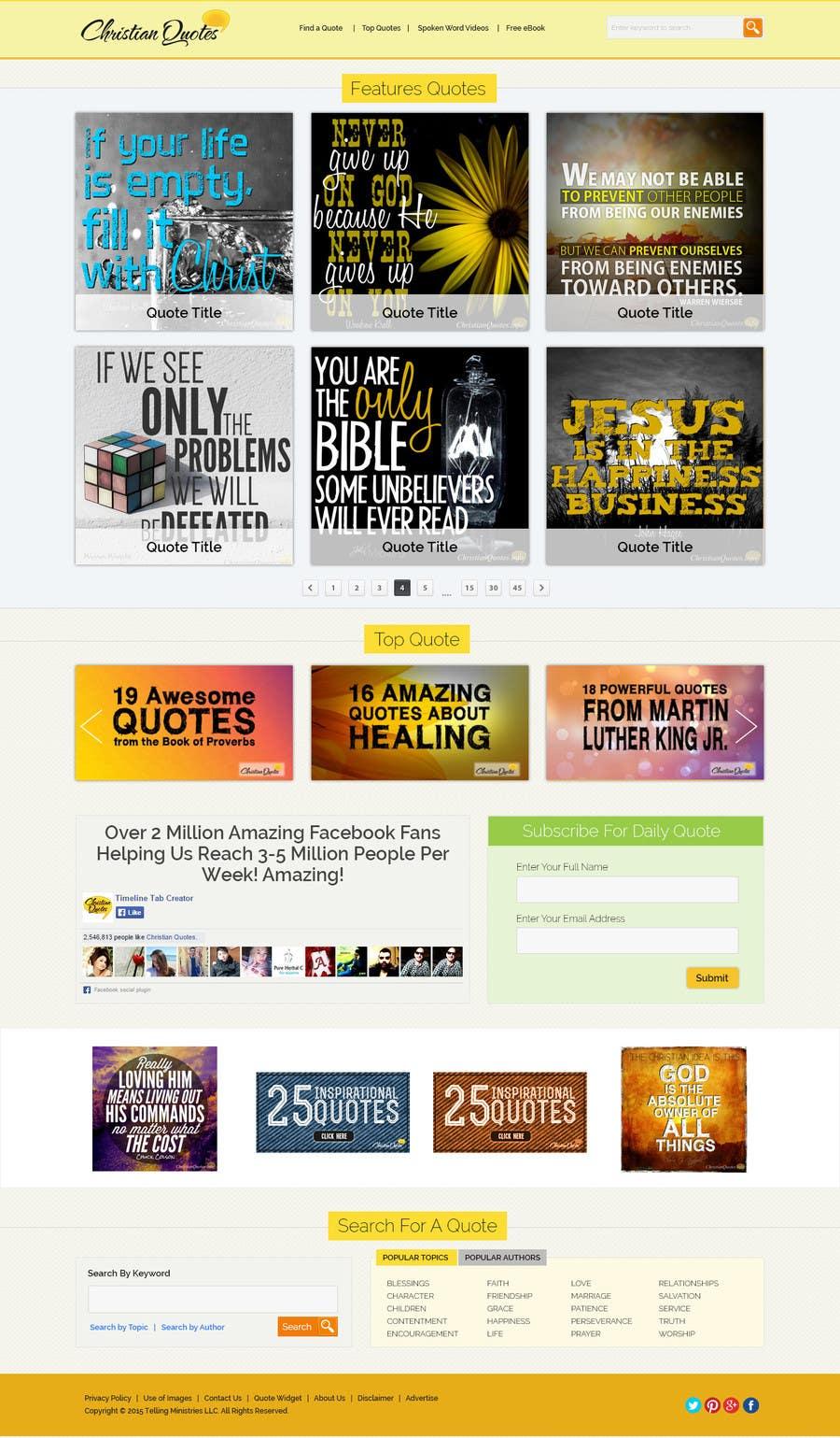 Penyertaan Peraduan #14 untuk Design the homepage of my website