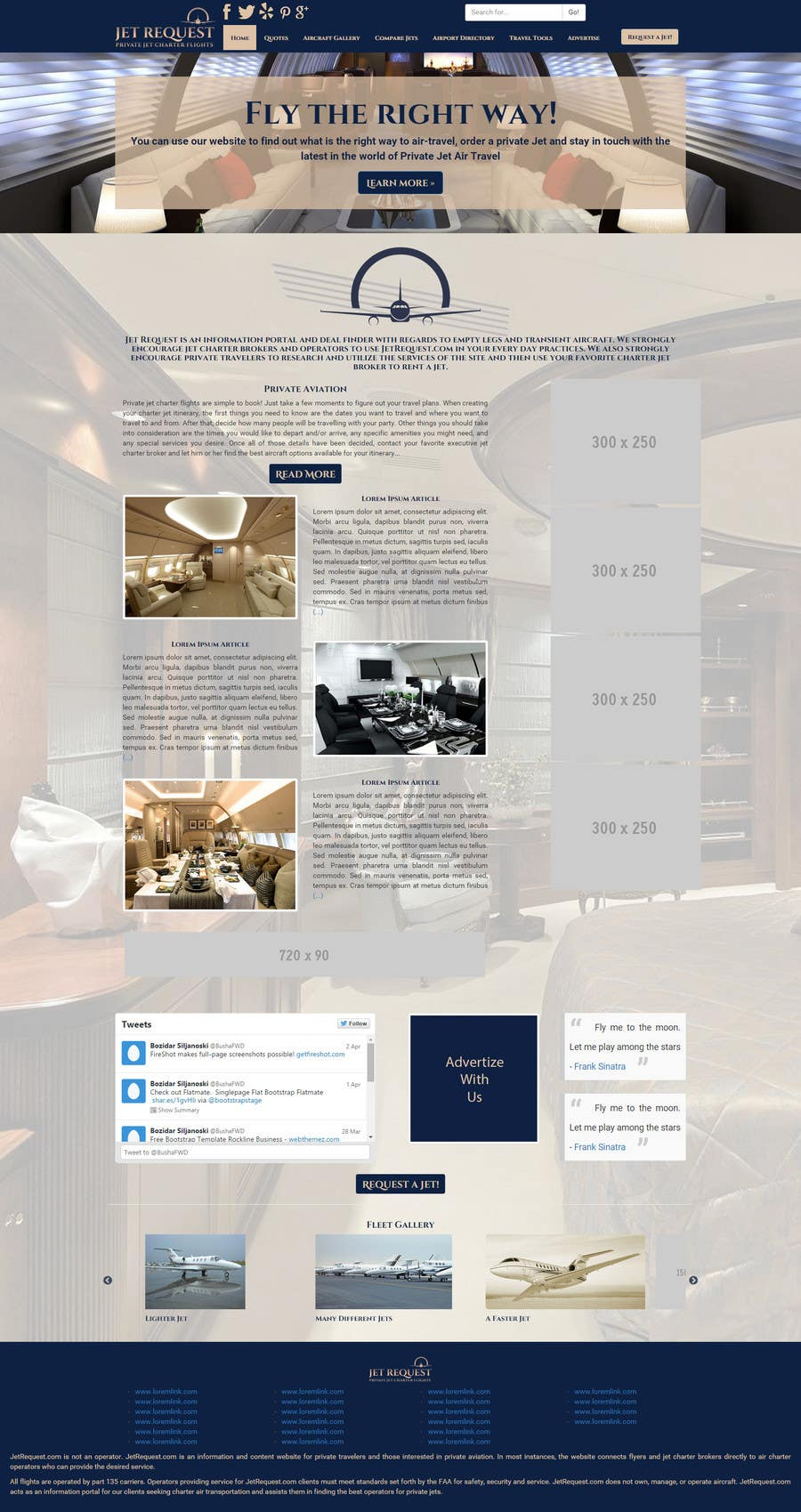 Konkurrenceindlæg #                                        20                                      for                                         Design a Website Mockup for Private Jet company