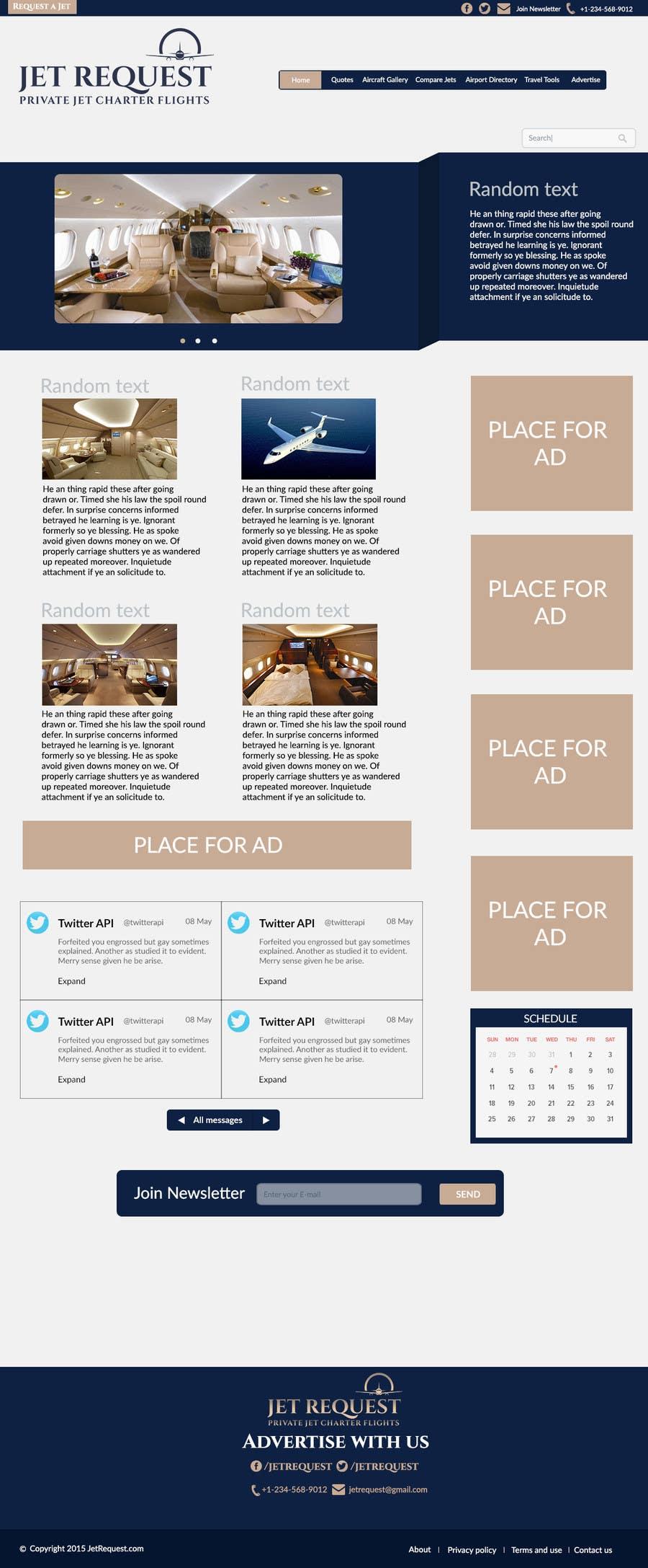 Konkurrenceindlæg #                                        7                                      for                                         Design a Website Mockup for Private Jet company