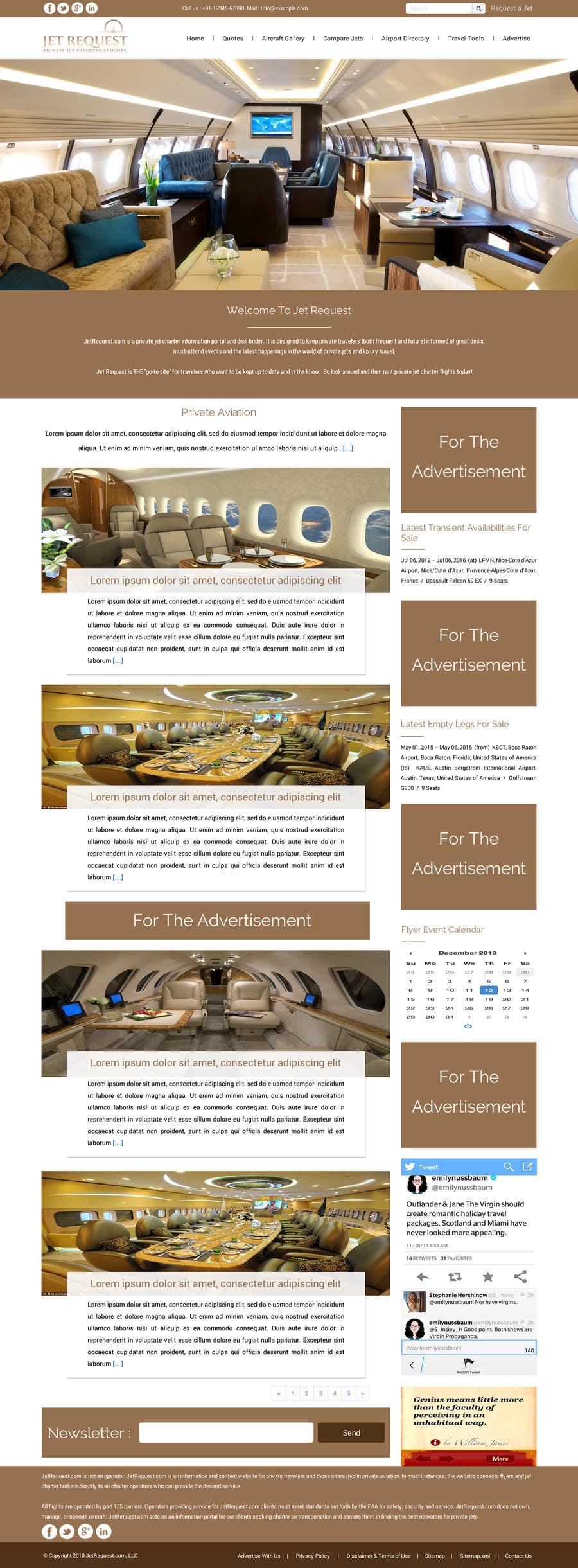 Konkurrenceindlæg #                                        25                                      for                                         Design a Website Mockup for Private Jet company