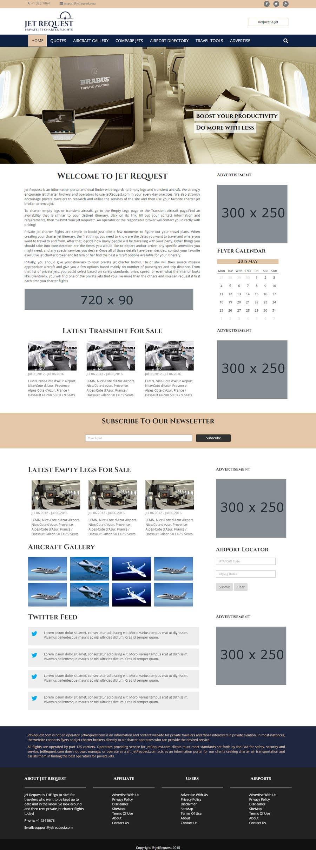 Konkurrenceindlæg #                                        22                                      for                                         Design a Website Mockup for Private Jet company