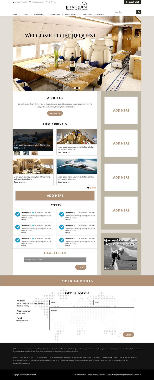 Konkurrenceindlæg #                                        6                                      for                                         Design a Website Mockup for Private Jet company