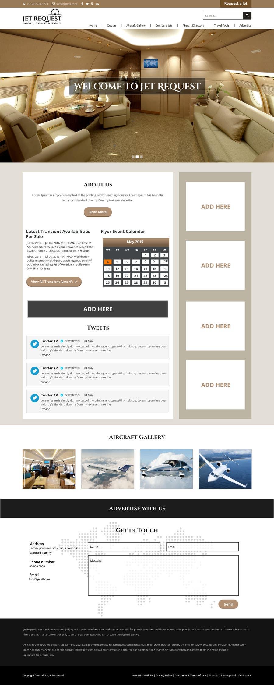 Konkurrenceindlæg #                                        8                                      for                                         Design a Website Mockup for Private Jet company