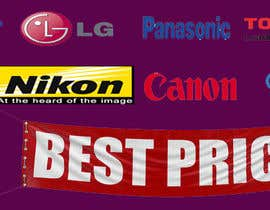 nº 56 pour Design a Banner for Electronic store Best Price par kkurremula