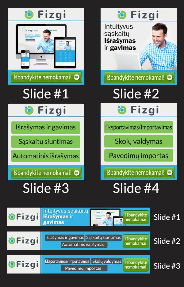 Konkurrenceindlæg #                                        5                                      for                                         Design two Banners for Google Animated image ads