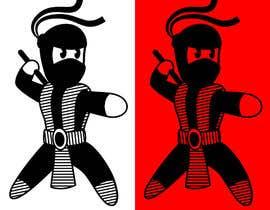 #28 para Design a logo / mascot character: adorable ninja! por DoctorRomchik