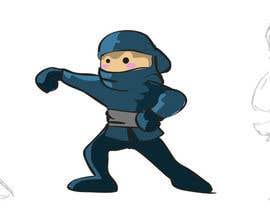 #21 para Design a logo / mascot character: adorable ninja! por nanocb72