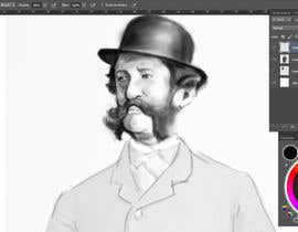 #10 para Create a Portrait Drawing of a late 19th Century Man wearing Multiple Bowler Hats por dngminh