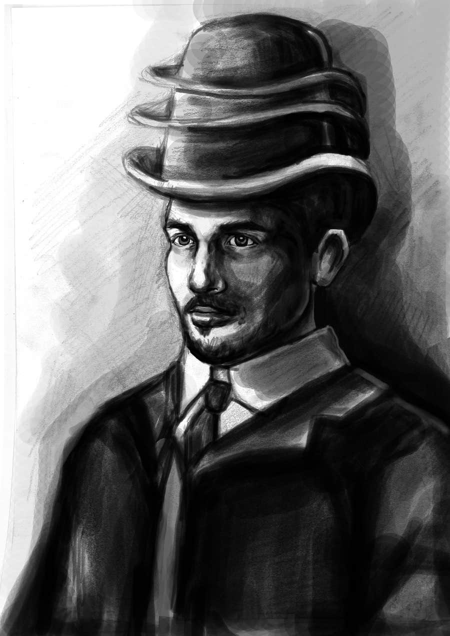Konkurrenceindlæg #                                        7                                      for                                         Create a Portrait Drawing of a late 19th Century Man wearing Multiple Bowler Hats