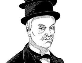 #16 para Create a Portrait Drawing of a late 19th Century Man wearing Multiple Bowler Hats por irvsat