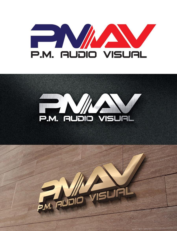 Konkurrenceindlæg #                                        33                                      for                                         Design a Logo for company named P.M. Audio Visual