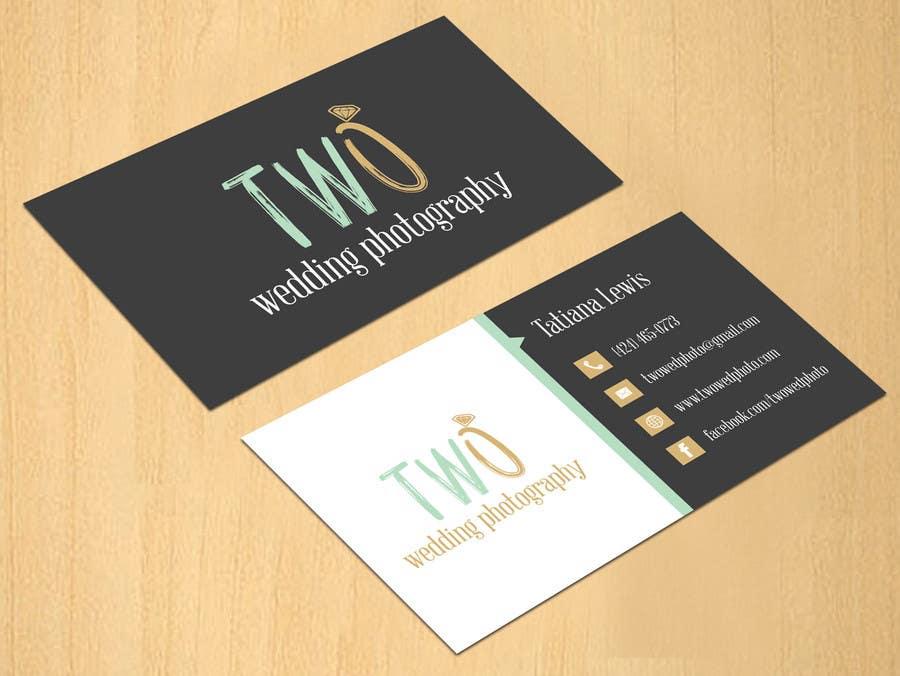 Konkurrenceindlæg #46 for Design some Business Cards for wedding photographers