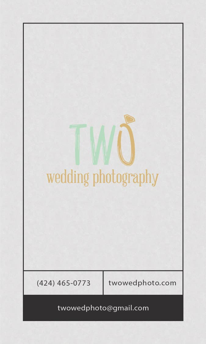 Konkurrenceindlæg #8 for Design some Business Cards for wedding photographers