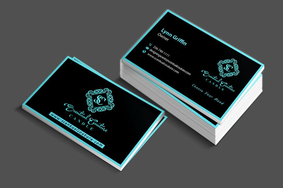 Konkurrenceindlæg #                                        22                                      for                                         Create business card for Scentual Couture Candle
