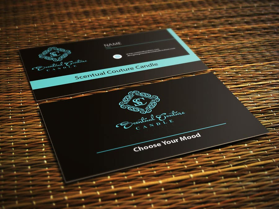 Konkurrenceindlæg #                                        27                                      for                                         Create business card for Scentual Couture Candle