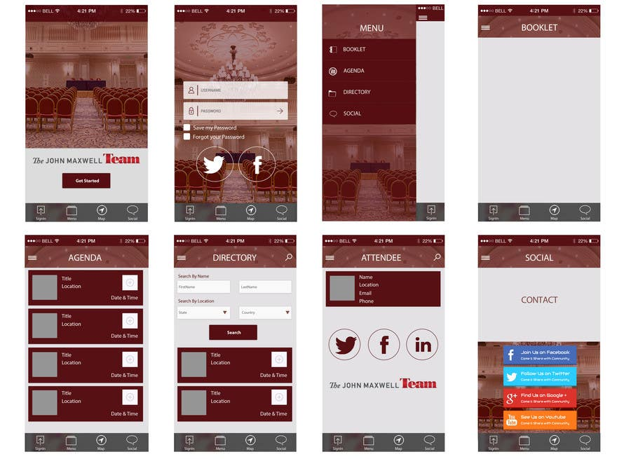 Penyertaan Peraduan #11 untuk Design a Website Mockup for an APP