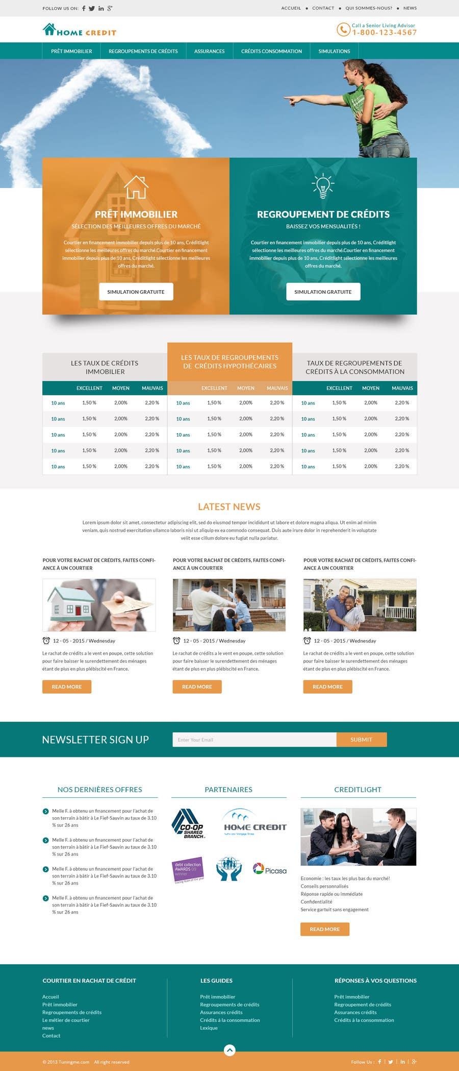 Konkurrenceindlæg #5 for I need Mockup for Website for Home Credit