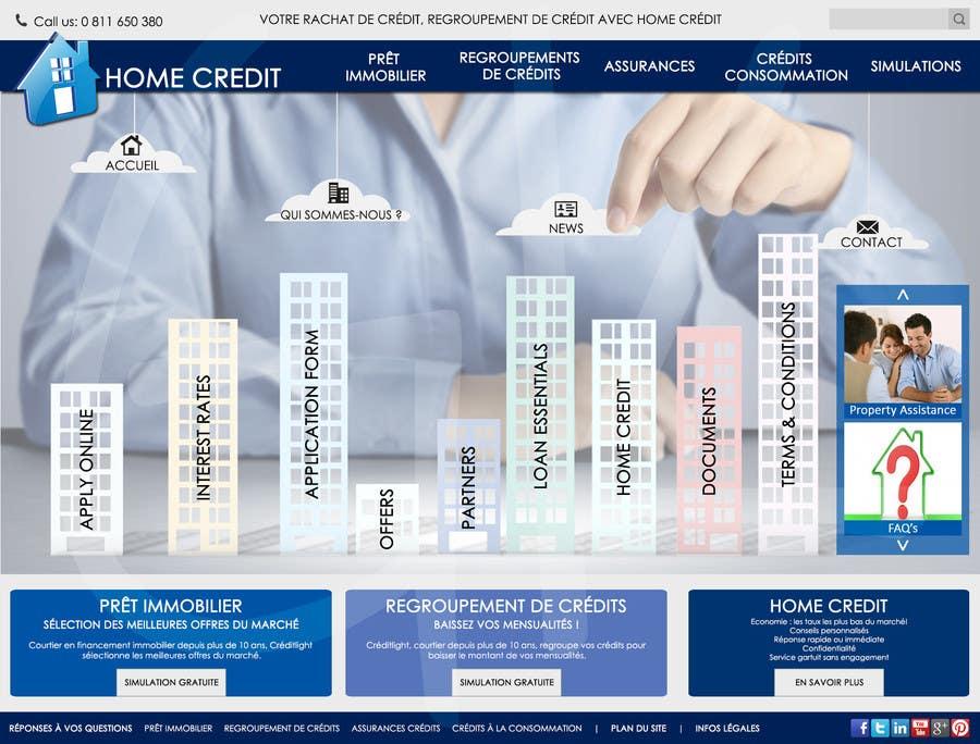 Konkurrenceindlæg #4 for I need Mockup for Website for Home Credit