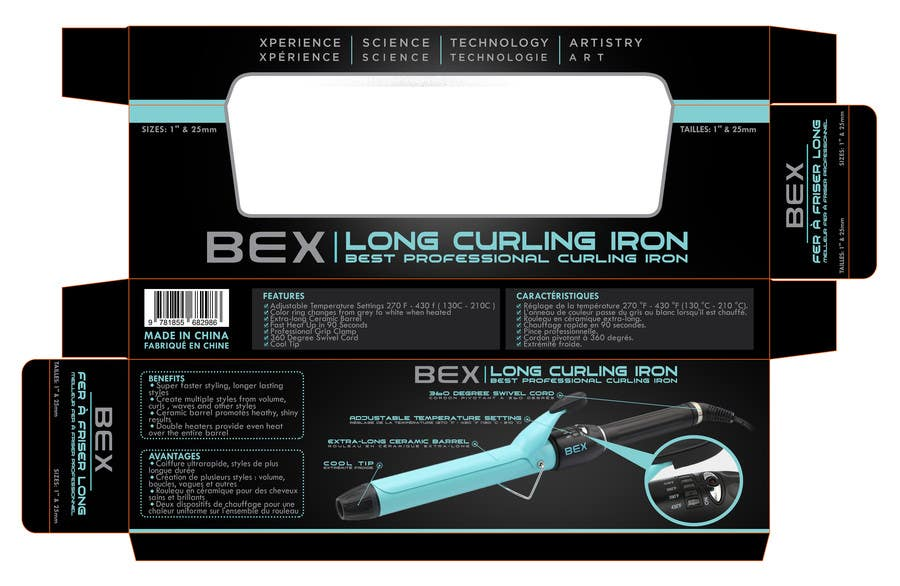 Konkurrenceindlæg #27 for Create Print and Packaging Designs for Curling Iron BOX