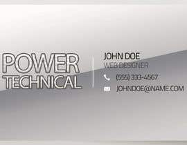 #14 untuk Design some Business Cards for Power technical oleh f0tis