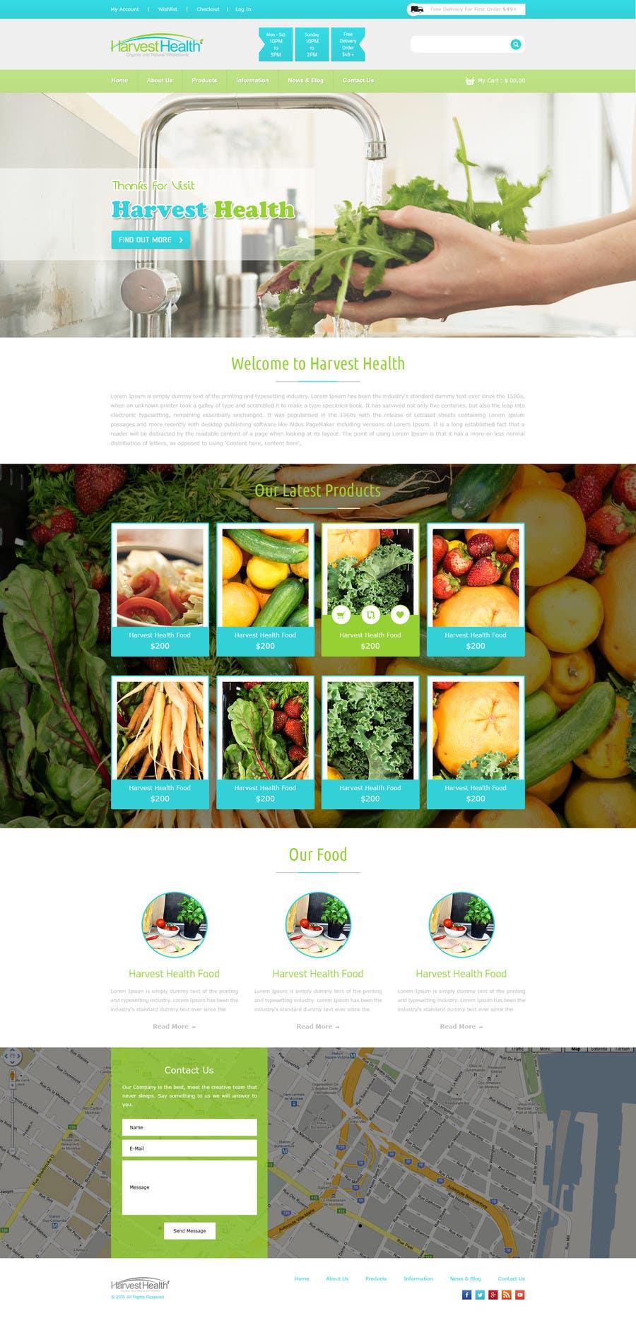 Konkurrenceindlæg #                                        3                                      for                                         Design a Website Mockup for A Health Food Shop